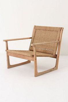 Robert Ogden, Cordage Armchair #anthropologie. Comes as a settee, too. Delish.