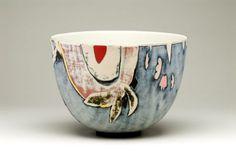 Susan Nemeth Bowl with slips DIAM 27cm