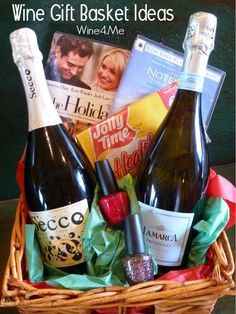 If you're looking to give a wine gift basket with flair or want to give a whole evening of ideas to go with that delicious bottle of wine, then I've got some wine gift basket ideas for you.