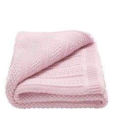 Spoil the receiver of this wonderfully warm blanket with a soft hue and cozy knit that looks great spread across the living room floor for playtime or tossed over the arm of the couch.