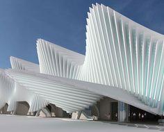 Railway Station - Poland Styler1000 #architecture - ☮k☮ - #modern