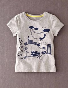 bc3a789410 I ve spotted this  BodenClothing Scoop Neck Graphic T-shirt Grey Melange