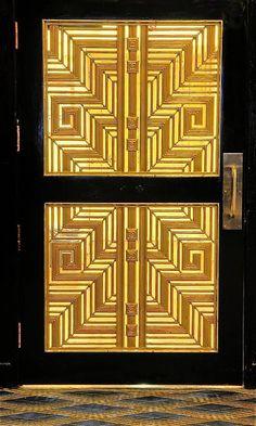 beautiful art deco door