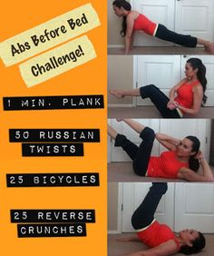 Abs Before Bed Challenge! Do this circuit for a month, and check out your changes!