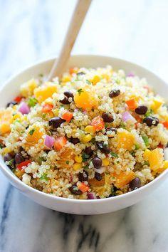 Black Bean Quinoa Salad With Orange Vinaigrette