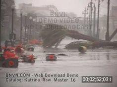 8/29/2005 Hurricane Katrina, New Orleans, LA - Video on Canal ...