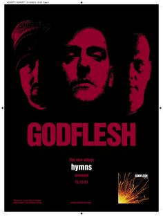 Godflesh - Hymns full page Terrorizer ad ad. Client: Music For Nations. Circa 2002. © Sean Mowle.