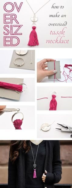 Make an Oversized Tassel Necklace