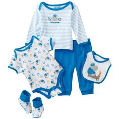 Carters Baby-boys Newborn captain Of The Ship Set With Bodysuit,... ❤ liked on Polyvore