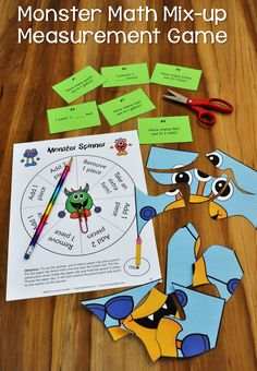 Monster Math Mix-up is just one of the many review games in Customary Measurement Conversions. Great for cooperative learning teams or math centers! $