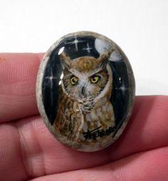 Painting handpainted stone miniature painted rock by FerreroArt