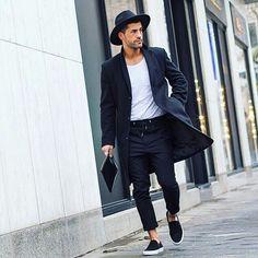 Kosta Williams on point with his black and white style. #Model #Men #Fashion #Art #inspiration #urban #Street #menswear