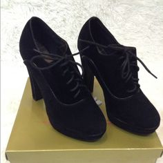 Black Suede Heels 🚫NO TRADE🚫 ❗️PRICE FIRM❗️ HAPPY POSHING 😘 Herstyle Shoes Heels