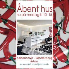 Åbent hus søndag den 14. juni kl. 10-15 i vores butikker i Århus, København og Sønderborg. se mere på www.sonderborg-kokken.dk