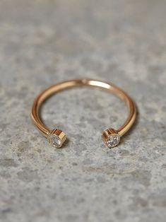 Free People Twin Diamond Ring, £530.00