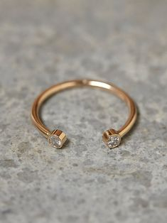 Zoe Chicco Twin Diamond Ring at Free People Clothing Boutique