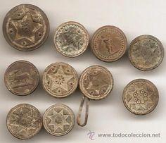 Lote de 10 botones antiguos - Foto 1