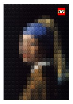 Pixelated Masterpiece Paintings out of LEGO in art  Category