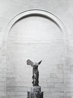 Nike of Samothrace, or the Winged Victory of Samothrace, is a century BC marble sculpture of the Greek goddess Nike. Sculpture Art, Sculptures, Winged Victory Of Samothrace, The Beautiful And Damned, Cyan, The Secret History, Dragon Age, Graphic, The Dreamers