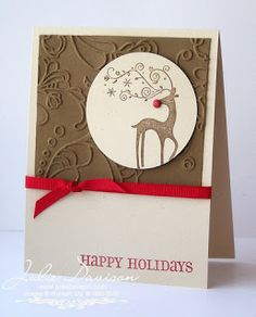 Julie's Stamping Spot -- Stampin' Up! Project Ideas Posted Daily: Rudolph Holiday Card