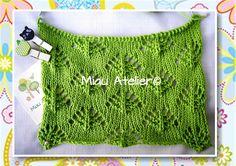 Vem aprender um ponto novo de tricô! http://miauartes.blogspot.com.br/ #artesanato