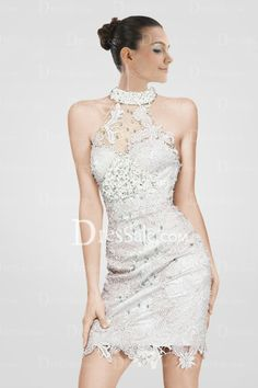 breathtaking-high-collar-sheath-cocktail-dress-with-appliques-and-crystals