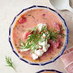 Zupa botwinkowa z ziemniakami i fetą | Kwestia Smaku