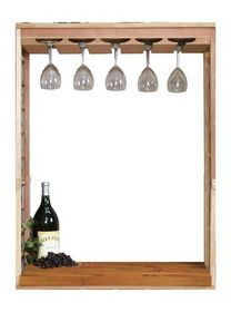 Vintner Series Wine Rack - Wine Glass Rack & Table Top Insert Create a focal point with a Wine Glass Rack and Table Top insert kit. The wine glass rack will Wine Storage, Kitchen Storage, Wine Glass Rack, Wine Racks, Wine Cellar Innovations, Black Stains, Glass Holders, Wine Gifts, Home Kitchens