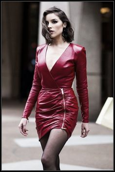 Handmade Women's lamb Skin Leather Dress , Leather Outfit, Leather Jacket , Women's Full Leather Coat, Genuine Leather Jacket Sexy Outfits, Sexy Dresses, Plus Size Dresses, Dress Outfits, Leather Dresses, Red Leather Dress, Leather Jacket, Leather Skirt Outfits, Sexy Party Dress