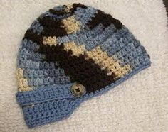 Knotty Knotty Crochet: LIttle brimmed hat FREE PATTERN! 0-3mo