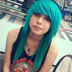 Green scene hair.
