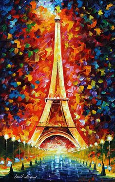 Leonid Afremov Eiffel Tower print for sale. Shop for Leonid Afremov Eiffel Tower painting and frame at discount price, ships in 24 hours. Cheap price prints end soon. Paris Painting, Oil Painting On Canvas, Canvas Art, Knife Painting, Abstract Paintings, Bright Paintings, Leonid Afremov Paintings, Beautiful Paintings, Oil Paintings