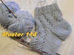 Muster 115 für Socken -Mütze*Sneakers socken Stricken mit Nadelspiel und mit Rundnadeln - YouTube