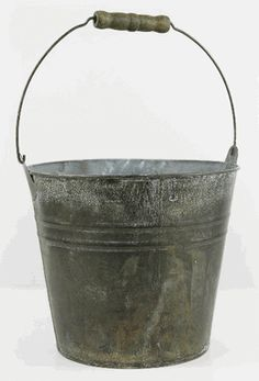 """Flower Shop Bucket 8"""" with Wood Grip Handle - $7 - Baby's Breath after the ceremony"""