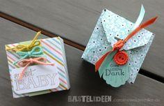 Kleine Boxen  mit dem Sale-a-Bration Designerpapier schnell gemacht mit den Envelope Punchboard von Stampin_Up
