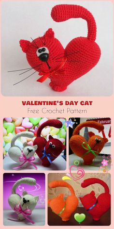 Valentine's Day Cat [Amigurumi Free Pattern]