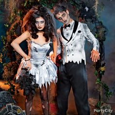 Hey baby, wanna get hitched? Our Zombie Bride and Groom can't wait to terrorize the town on their honeymoon. Shop a legion of zombie costumes and find your perfect zombie mate!