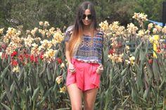 #sunglasses x ethnic top