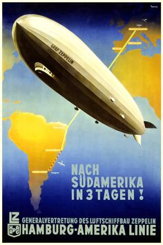 Graf Zeppelin Germany to South America in 3 days by BloominLuvly, $9.95