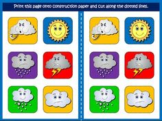 The Weather -  Board Game (Picture Cards)