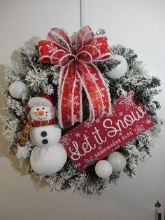 One of a kind Handmade Wreaths. Burlap Christmas Tree, Christmas Swags, Holiday Wreaths, Holiday Crafts, Christmas Crafts, Christmas Ornaments, Christmas Snowman, Primitive Christmas, Country Christmas