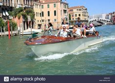 Water Taxi Boat Trip On The Grand Canal, Venice, Italy Stock Photo, Royalty Free Image: 59745348 - Alamy