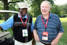 I <3 this pic ..2 hall of famers- Red & Lou.....at the Matt Holliday Golf Classic-supporting the Pujols Family Foundation. 7-08-13