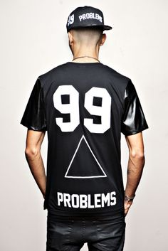 """Image of JAY-Z  99 Problems T-shirt """" B and W """""""