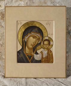Byzantine Icons, Byzantine Art, Religious Icons, Religious Art, Queen Of Heaven, Blessed Mother Mary, Holy Mary, Madonna And Child, Art Icon