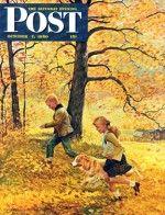 Walking Home Through Leaves (John Clymer, October 7, 1950)