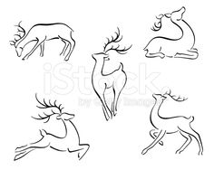 Find Reindeer Christmas Design Set stock images in HD and millions of other royalty-free stock photos, illustrations and vectors in the Shutterstock collection. Christmas Tree Design, Christmas Drawing, Christmas Paintings, Christmas Art, Christmas Projects, Simple Christmas, Minimalist Christmas, Easy Reindeer Drawing, Tatoo