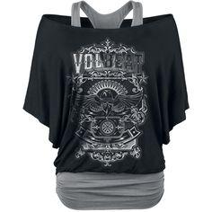 """Volbeat T-Shirt, Frauen """"Old Letters"""" schwarz/grau                                                                                                                                                                                 Mehr"""