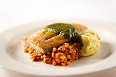 Barramundi, Corn Sofrito, Polenta, Cilantro Pesto by D'Amico Catering, via Flickr