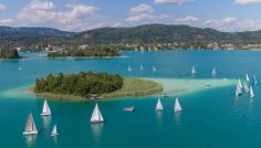 Segelregatta am Wörthersee #segeln #wörthersee #regatta #austria World Bodypainting Festival, We Are Festival, Wonderful Places, Austria, Places To Travel, River, Outdoor, Sailing, Summer